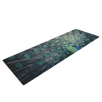 "Ann Barnes ""Majestic"" Peacock Feather Yoga Mat"