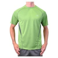 Alo Yoga Men's Reponse Short Sleeve Tee, Cedar/Anthracite, Medium
