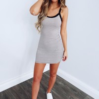Here For The Tee Dress: Black/White