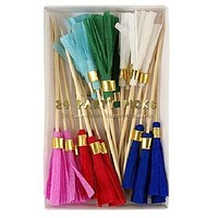Colored Tassel Party Picks