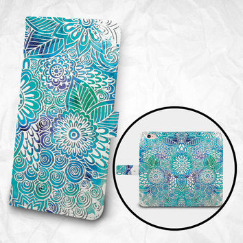 iPhone 6 6S Plus case Samsung Galaxy S6 case Edge case Note 5 4 3 2 PU leather flip cover Book Phone case Wallet case - Grooved-like pattern