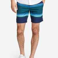 Summer Weight Short - Navy Lisbon Stripe