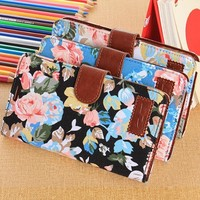 Note 3 Case,OMIU(TM) Flower Floral Style Wallet Flip Magnet Stand Leather Case Cover with Credit Card Holder for Samsung Galaxy Note 3 N9000(Black), with Screen Protector, Stylus and Cleaning Cloth