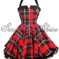 Hell Bunny Red Zipper Dress