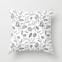 floral Throw Pillow by Kate Gabrielle