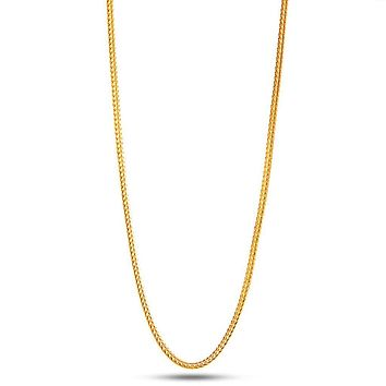 2mm 18K Yellow Gold Franco Hip Hop Chain