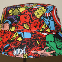Kids Child Children Reversible Fabric Bucket Hat Avengers LIMITED AVAILABILITY