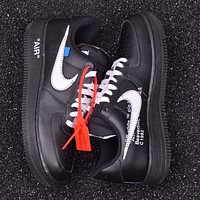 The 10 OFF WHITE x Nike Air Force 1 '07 Low Black Casual Shoes Sneaker AA5122-001