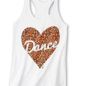 Product: Animal Print Heart Loose Tank - Dance