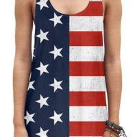 "Women's ""Americana"" Tank by Goodie Two Sleeves (Red/White/Blue)"