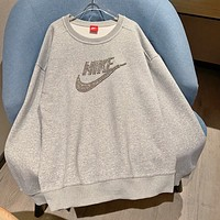 Nike shining rhinestone heavy industry diamond sweater