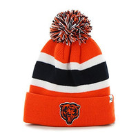 NFL Chicago Bears '47 Brand Breakaway Cuff Knit Hat with Pom, Orange, One Size
