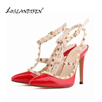 Women Rivets Pumps Stiletto