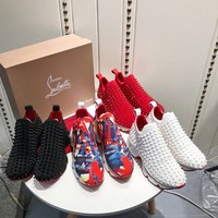Christian Louboutin CL Fashion Fashionable leisure Sneakers Shoes