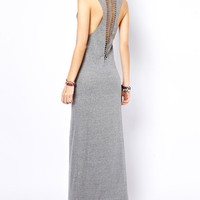 Sleeveless Maxi Dress with Back Cut-out