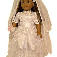 """Wedding Communion Dress:Gown, Veil, Shoes,Bouquet Fits 18"""" American Girl® Doll Clothes & Accessories"""