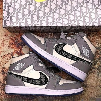 Dior x Air Jordan 1 High OG high-top casual basketball shoes