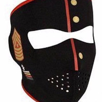 Zanheadgear Neoprene Full Mask-Marines Sgt. Full Face Neoprene Mask-New!