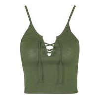 Tie-Up Vest - Forest