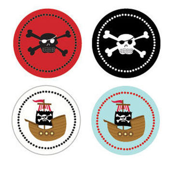 Pirate Party Stickers (Set of 32)