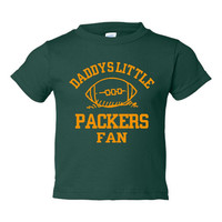 Daddys Little Packers Fan Toddler And Youth T-Shirt GreenBay Fans Printed Tee for Kids Creepers & T-Shirts. Makes a Great Gift!!