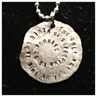 The only way out of the labyrinth of suffering is to forgive Looking for alaska two sided necklace