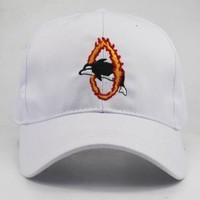 Sports Hat Cap trendy  2018 new arrival dolphin jump the circel fire embroidery baseball cap adjustable cotton casual cap travel hats sports caps KO_16_1