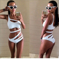 2017 Hot Hollow Out Bandage Swimsuit One Piece Swimsuit -iHomegifts