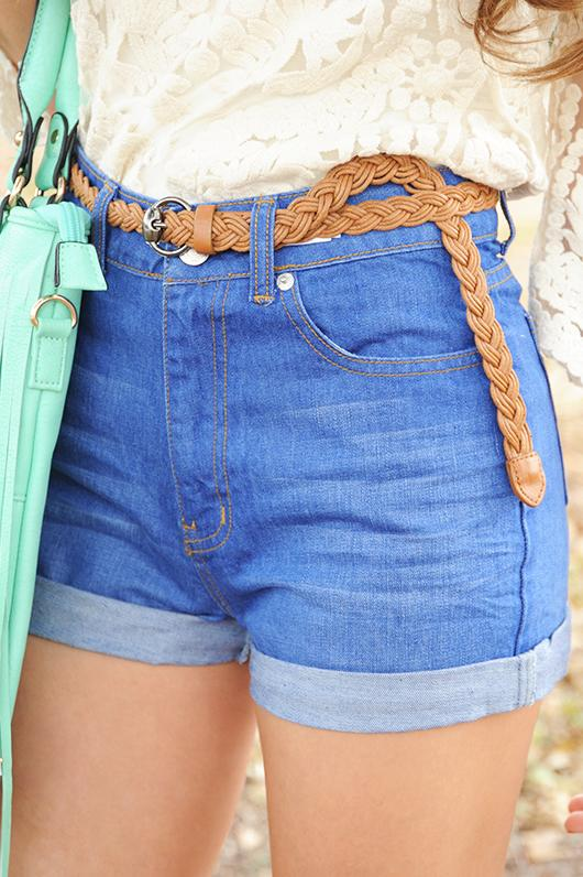 Image of Easy To Love Shorts: Denim   Hope's
