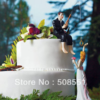 Fishing With Love Wedding Cake Toppers Couple Decoration = 1929438532