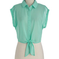 Outdoor Voice Top in Garden | Mod Retro Vintage Short Sleeve Shirts | ModCloth.com