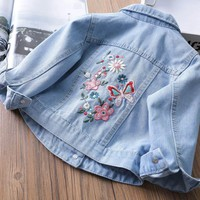 Trendy Casual Denim Jacket For Baby Girls Spring&autumn Clothing Tops Coats 2018 Children Baby Outwear Jeans Jackets 2 3 4 6 8 Years AT_94_13