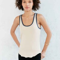 BDG Lucy Ribbed Knit Ringer Tank Top