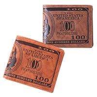 New Fashion Men 1 PC US Dollar Bill Wallet PU Dollar Men Wallet