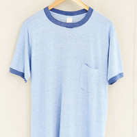 Vintage Blue Ringer Tee - Urban Outfitters