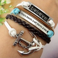 Bracelet Pack with Anchor and ID Charms