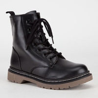Soda Grunge Womens Boots Black  In Sizes