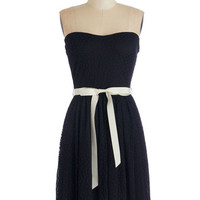 ModCloth LBD Mid-length Strapless A-line Matchless Magnetism Dress
