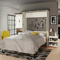 Queen Wall Bed with Desk and Storage Unit