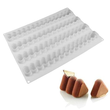 Triangle Silicone Mousse Mold Fondant Chocolate Mold Christmas Kitchen DIY Cake Pastry