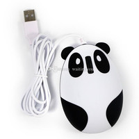 Factory Price Cute Panda Style Computer Wired Mouse Compatible with Windows/Linux/Android/Mac black wih white color goodbiz