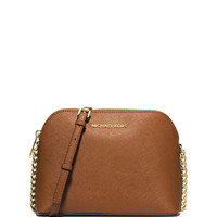 Cindy Large Dome Quilted Crossbody Bag, Luggage - MICHAEL Michael Kors