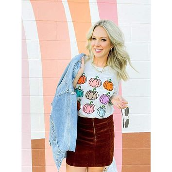 Colorful Pumpkins Graphic Tee (S-2XL)