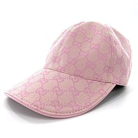 GUCCI Fashion New More Letter Women Men Cap Hat Pink