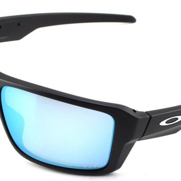 New Oakley Sunglasses Double Edge Matte Blk Prizm h20 Polarized 9380-1366 In Box