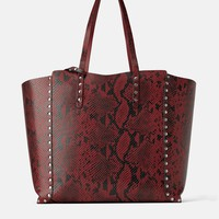 STUDDED REVERSIBLE SHOPPER BAG
