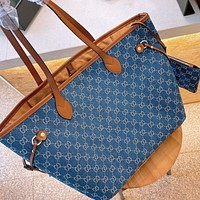 GG new female double G tote bag shopping bag mother bag wallet two-piece set