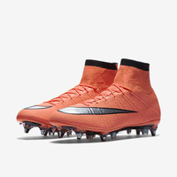 The Nike Mercurial Superfly SG-PRO Men's Soft-Ground Soccer Cleat.
