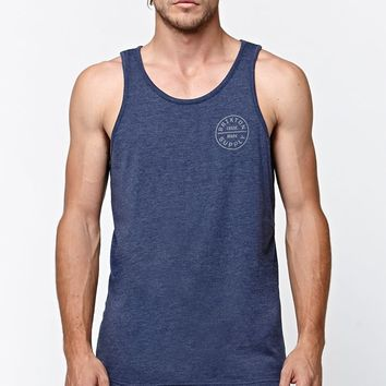 Brixton Oath Tank Top - Mens Tee - Washed Navy