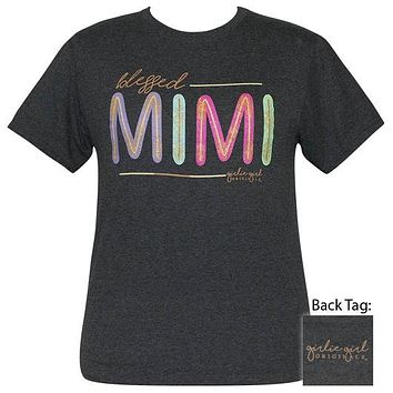 Girlie Girl Originals Preppy Blessed Mimi Glitter T-Shirt